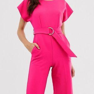 Hot Pink Women's Jumpsuit